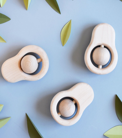 WOODEN AVOCADO TEETHER