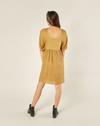 RYLEE + CRU WOMEN'S GRETTA BABYDOLL DRESS / GOLDENROD