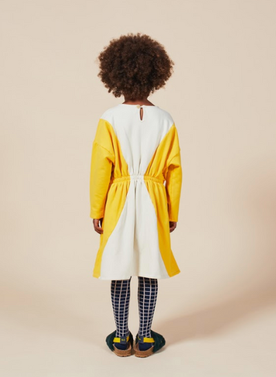 BOBO CHOSES GEOMETRIC FLEECE DRESS