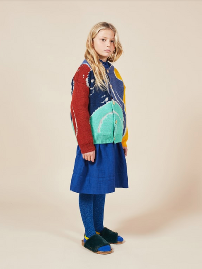 BOBO CHOSES MULTICOLOR ABSTRACTIONS CARDIGAN