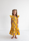 HUGO LOVES TIKI WOVEN  MAXI DRESS / ICE CREAM YELLOW