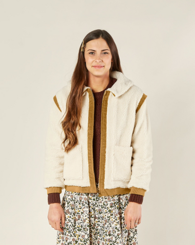 RYLEE + CRU WOMEN'S SHERPA COAT / NATURAL
