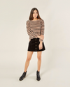 RYLEE + CRU WOMEN'S STRIPED CHENILLE SWEATER
