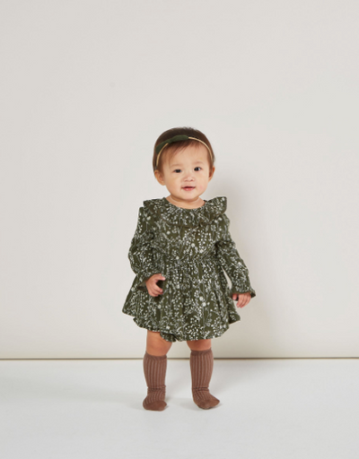 RYLEE + CRU VINES RUFFLE COLLAR BABY DRESS / FOREST