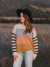 RYLEE + CRU WOMEN'S STRIPE ASPEN SWEATER