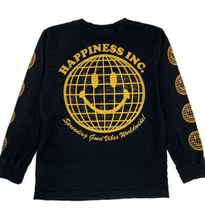 TINY WHALES HAPPINESS INC LONG SLEEVE TEE