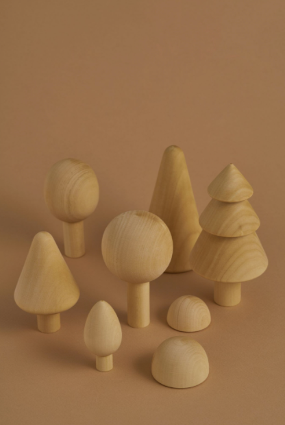 RADUGA GREZ FOREST WOODEN TREES SET / NATURAL