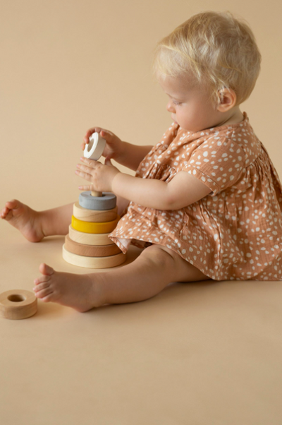 RADUGA GREZ WOODEN STACKING TOWER / SAND