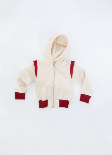 FIN & VINCE FLEECE JACKET / CRIMSON