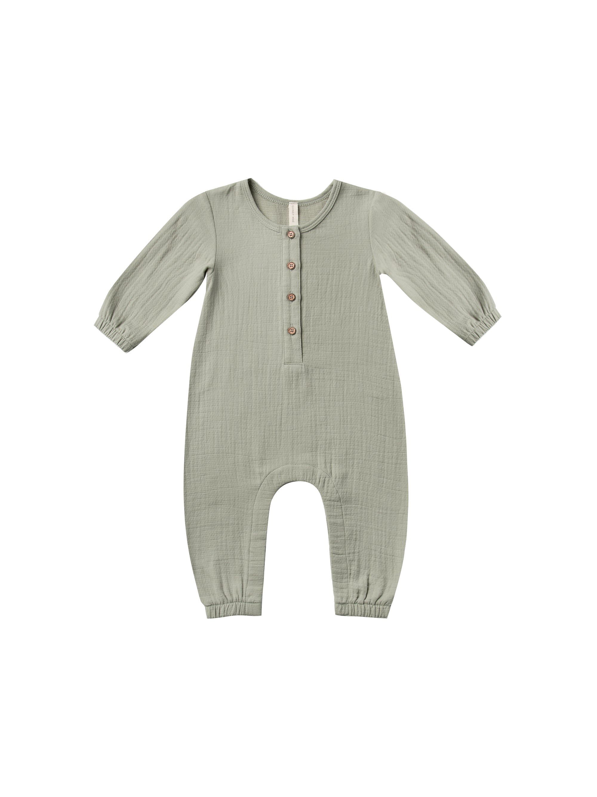 QUINCY MAE woven JUMPSUIT / SAGE