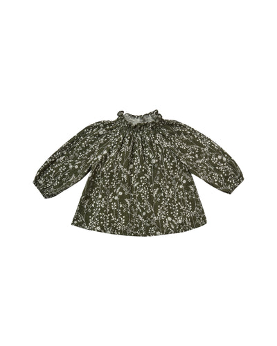 RYLEE + CRU VINES AUDREY BLOUSE / FOREST
