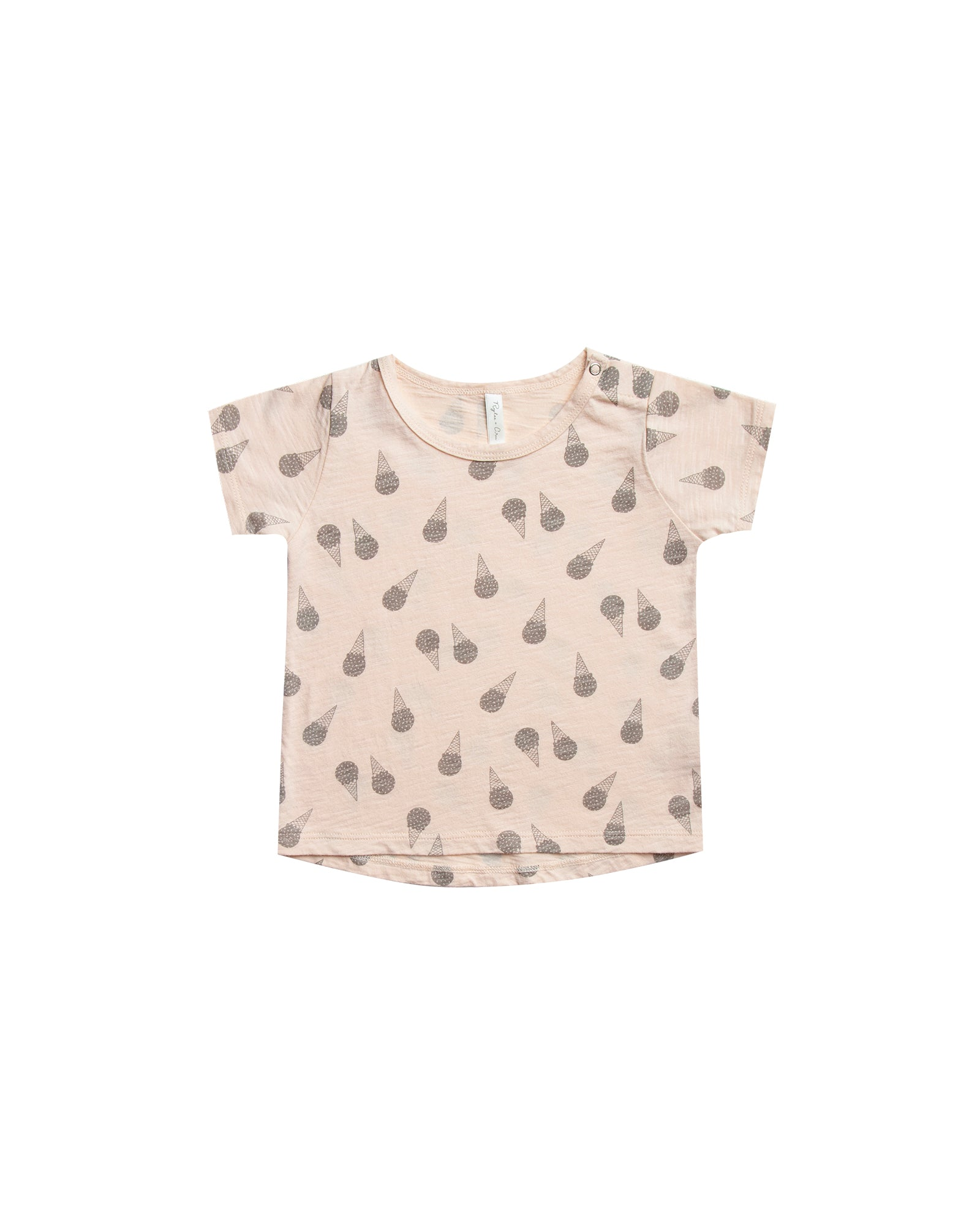 RYLEE + CRU ICE CREAM BASIC TEE / SOFT PEACH