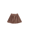 RYLEE + CRU BUTTON FRON MINI SKIRT / WINE