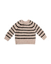 RYLEE + CRU STRIPED CHENILLE SWEATER / OAT