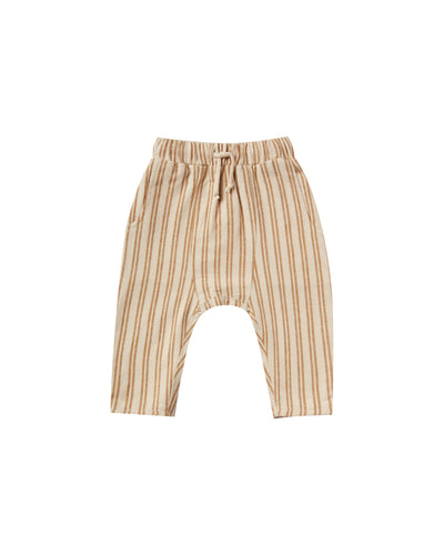 RYLEE + CRU STRIPED HAWTHORNE TROUSER / CINNAMON