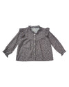 RYLEE + CRU DITSY DITSY ROONY BLOUSE / WASHED INDIGO