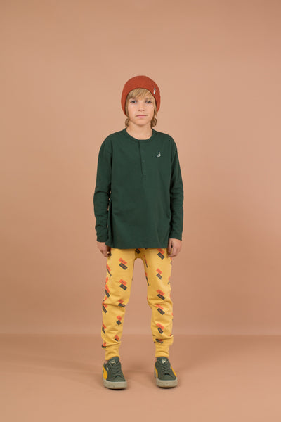 TINY COTTON ENGLISH DOMINO FLEECE PANT / SAND