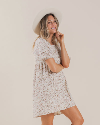 WOMEN'S GRETTA BABYDOLL DRESS / SUPERBLOOM