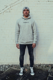 Premium Grey - Embroidered Hoodie
