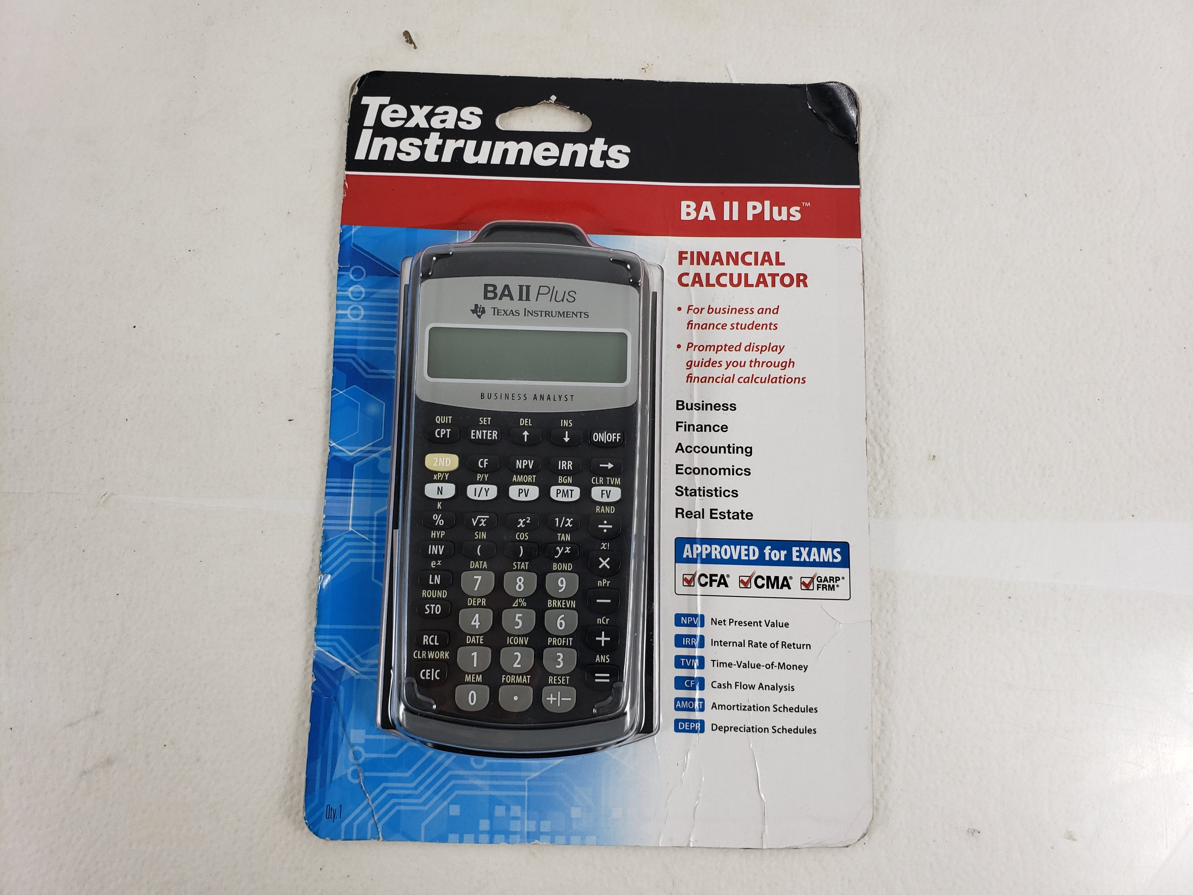 Texas Instruments BA ll Plus Financial calculator Approved for exams