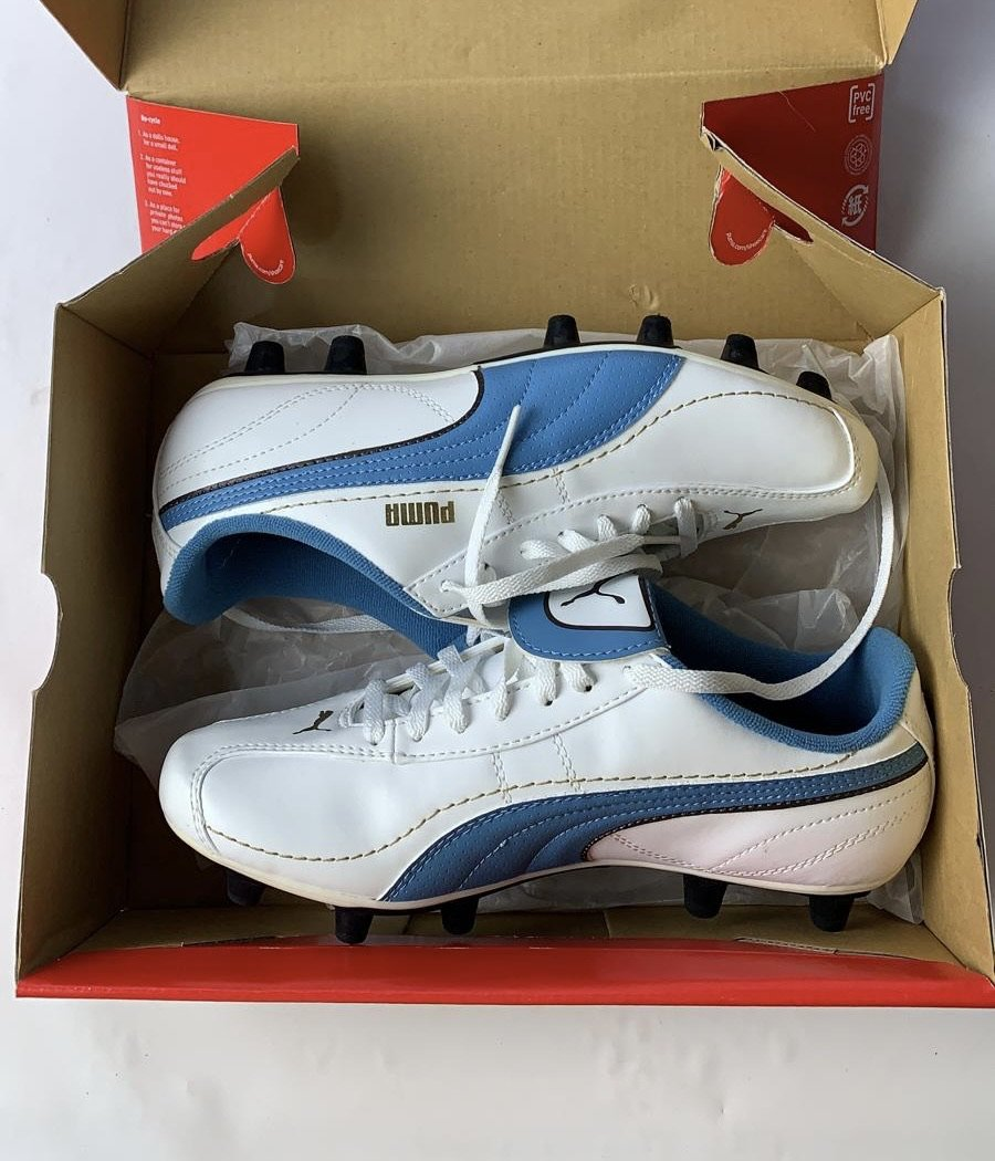 Puma Junior Esito XL i FG JR White/Cendre Blue/Team Gold 5.5 New.