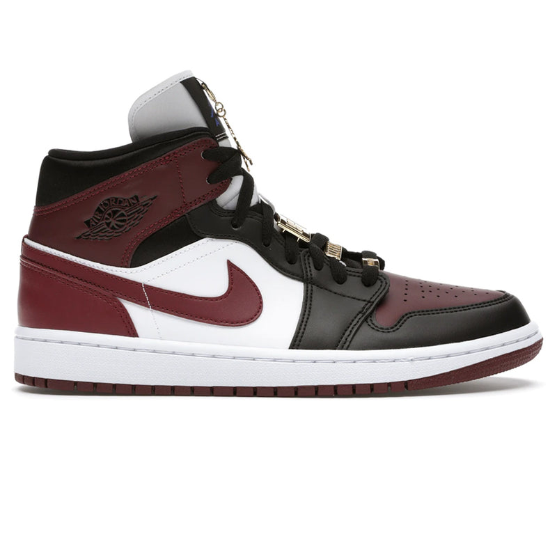 Air Jordan 1 Mid SE 'Black Dark Beetroot' (W)