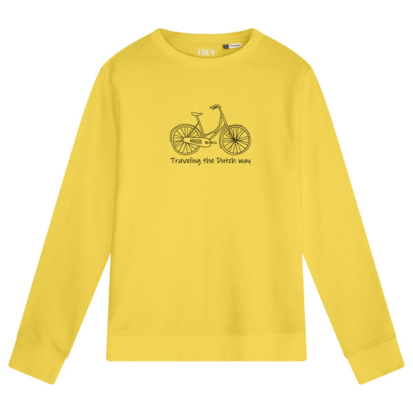 Bicycle Men's Sweater | Yellow