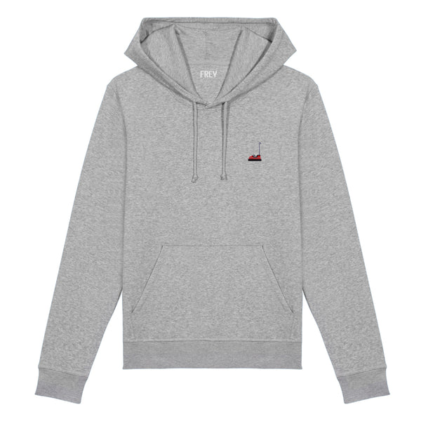 Bumper Car Men's Hoodie | Grey Melee