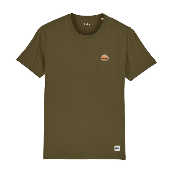 Burger Men's T-shirt | Khaki