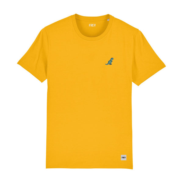 Dinosaur Men's T-shirt | Yellow