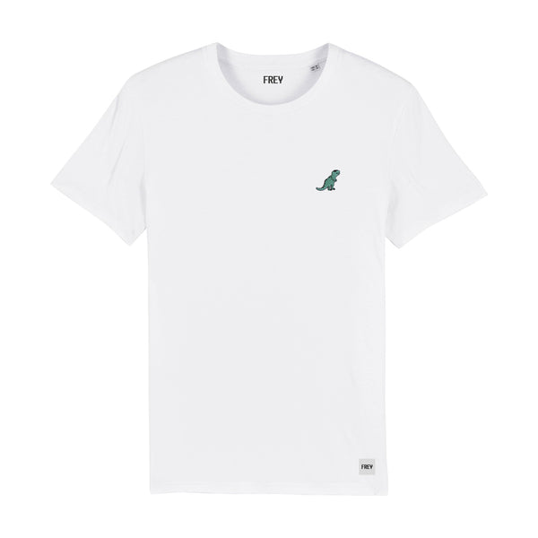 Dinosaur Men's T-shirt | White