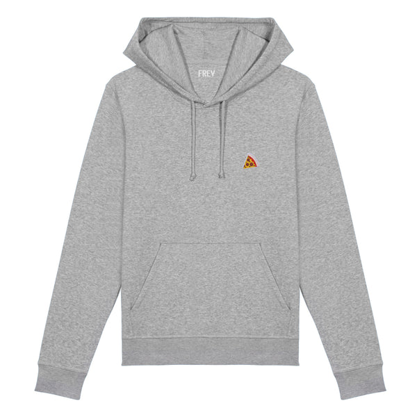 Pizza Men's Hoodie | Grey Melee