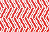 Chevron Diamonds Red & White