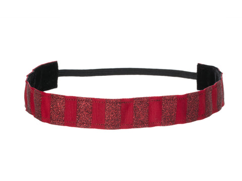 Red Glitter Ribbon Headband