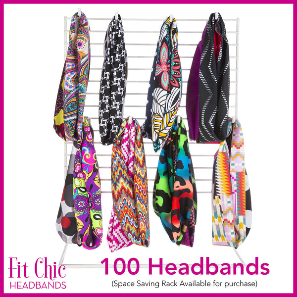 100 Fit Chic Headbands
