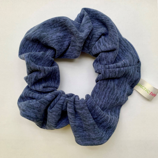 Heathered Navy Scrunchie