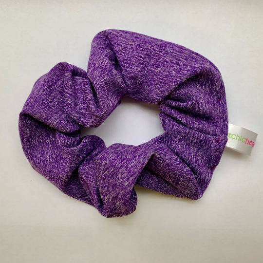 Heathered Purple Scrunchie