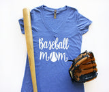 V-Neck - Baseball Mom