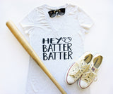 V-Neck - Baseball - Hey Batter