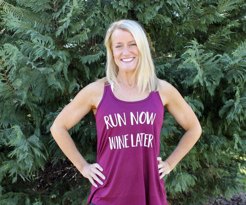 Tank Top - Run Now Wine Later