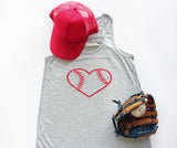 Tank Top - Baseball Heart