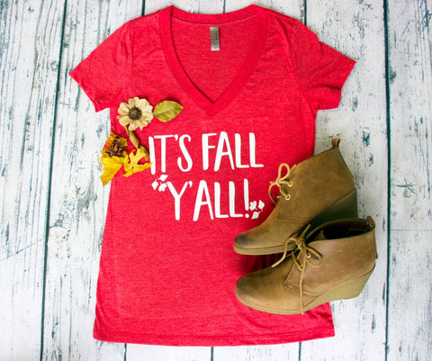 V-Neck - It's Fall Y'all