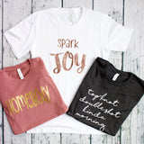 Spark Joy Group tee colors
