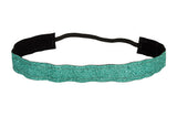 Aqua Sparkle Ribbon Headband