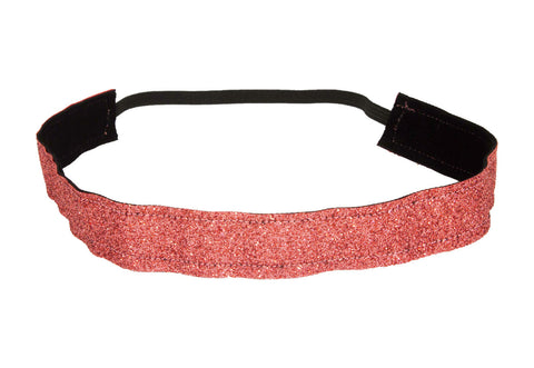 Coral Sparkle Ribbon Headband