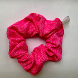 Hot pink scrunchie by Fit Chic