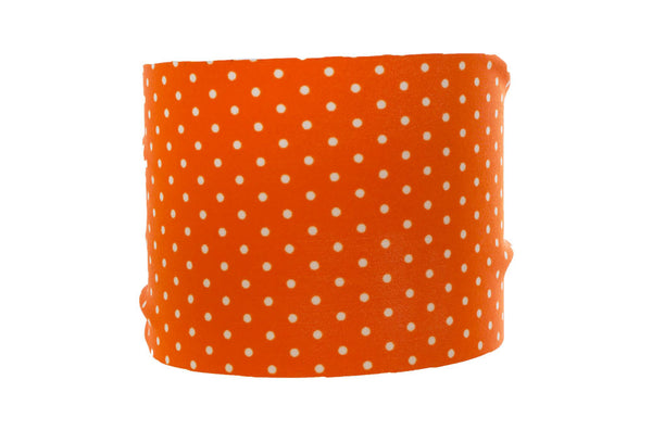 Mini Orange and White Dot