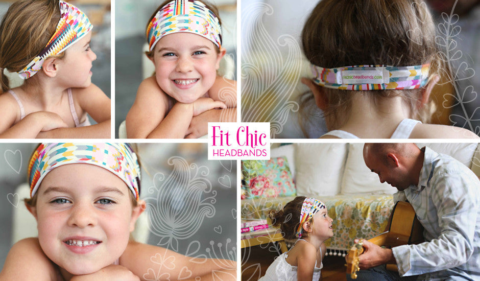 Fit Chic Headbands Turqoise Yoga
