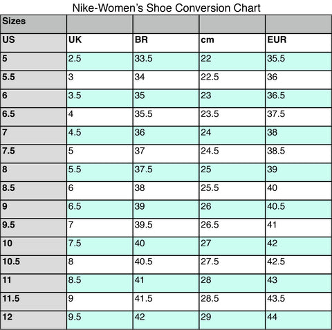 uk availability 69e26 60a17 Before purchasing, please review the Women s Nike size chart below. This  shoe runs true to size.