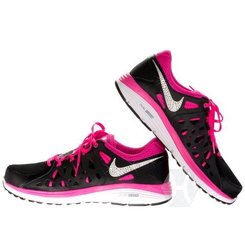 Nike Dual Fushion Tennis Black Pink White frosted by Harriet   Hazel -  Harriet e79a6b2ee4